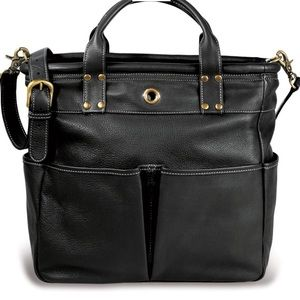Levenger St. Tropez Leather Tote Bag